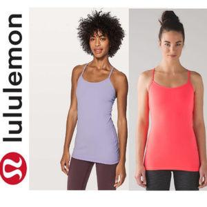 Lululemon bundle: 2 Y tanks lavender/coral Sz 6